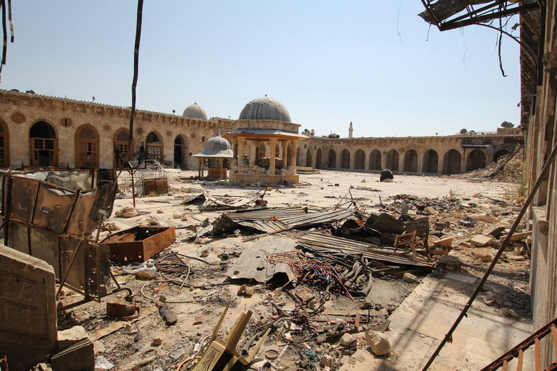 Abandoned Great Mosque of Aleppo Abandoned Places Ancient Great Mosque Of Aleppo Halab Syria Prejudice Umayyad Mosque, Abandoned Aleppo Aleppo_syria Architecture Dead City Effect Of War Great Mosque Masjid Mosque Umayyadmosque