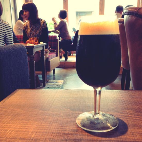 黒ビールみたいなコーヒー。It's a coffee, Coffee Cafe Tokyo,Japan Jiyugaoka like a black beer.