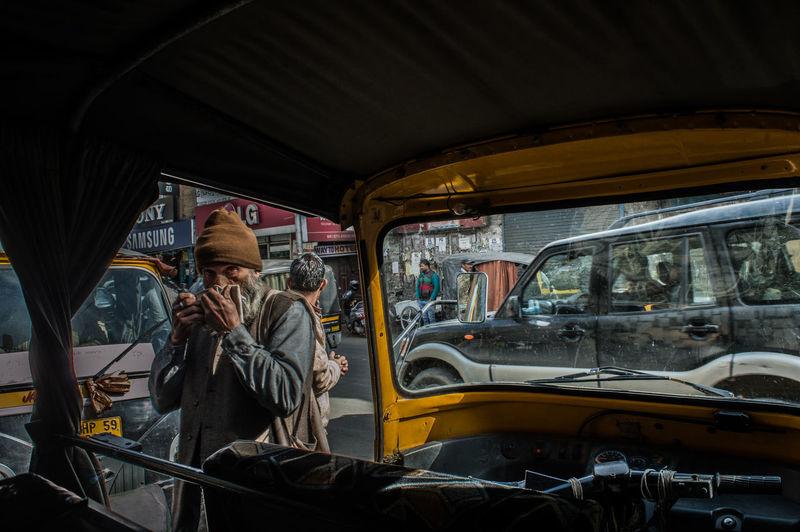 Look! Day Land Vehicle Lifestyles Men Mode Of Transport One Person Public Transportation Real People Sitting Street4 Streetart Streetphotography Transportation