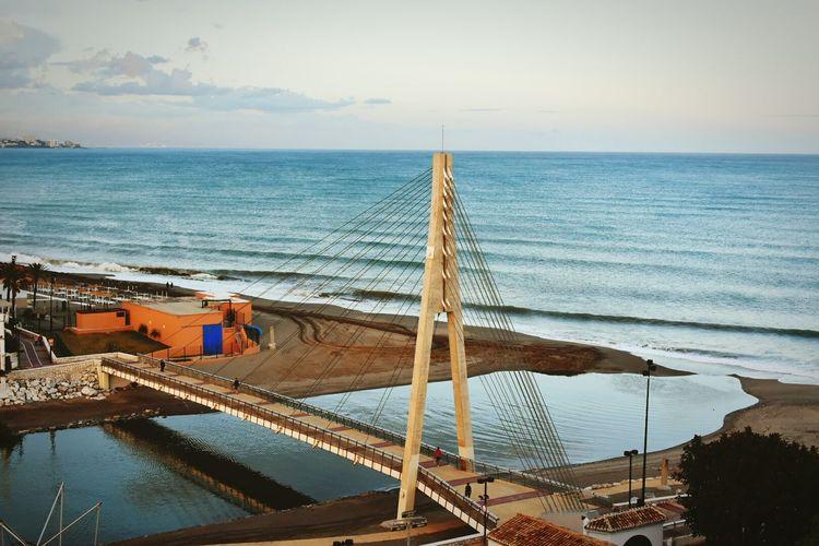 Bridge against sea
