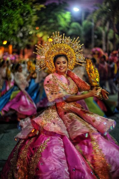 Antipolo Festival Dancer Clothing Multi Colored Celebration Religion Sculpture Traditional Clothing Art And Craft Women