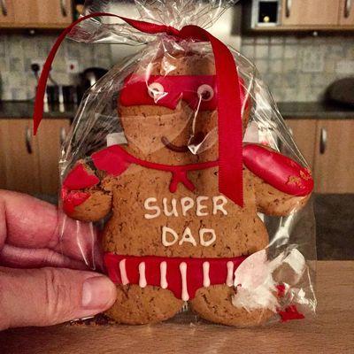Super Dad ginger bread biscuit Biscuit Super Dad Ginger Bread Food Food Network Uk United Kingdom Northampton Northamptonshire Northants