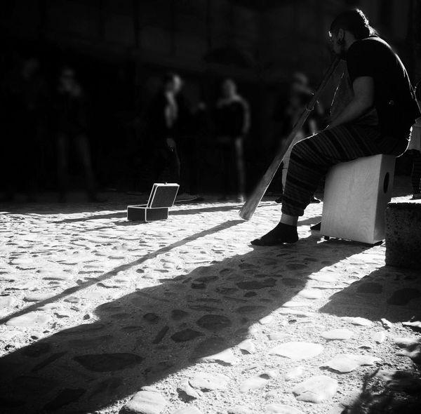 Dancing Around The World Calcata Italy Black & White