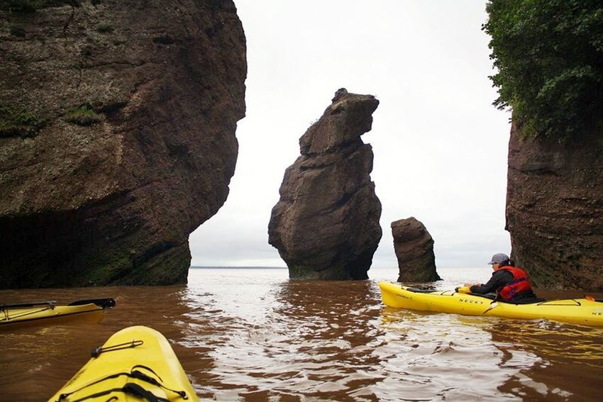 Sea kayaking on the Bay of Fundy at the Hopewell Rocks. Sea Kayak Hopewell Rocks Bay Of Fundy Water Play Waterscapes