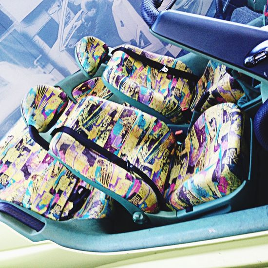 Eighties Pattern Color Explosion Carseat