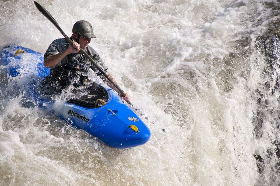 Adventure Beauty In Nature Day Enjoyment Full Length Fun Kayak Kayaking Leisure Activity Lifestyles Motion Nature Outdoors Vacations Water Waterfall Wave Whitewater Go Higher