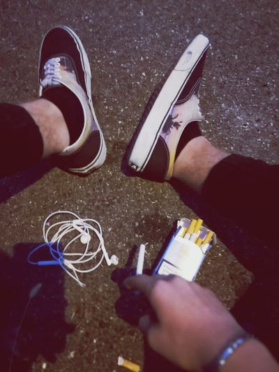 Shoe Men Street Smoke Outdoors Casual Clothing Road Tumblrboy Tumblr Italy🇮🇹 Camel Person Vans MusicLow Section Lovemusic Person First Eyeem Photo