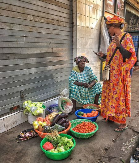 Dakar Real People Day Multi Colored For Sale Architecture Choice Selling Variation Abundance Small Business Outdoors Market Stall Business Large Group Of Objects Basket Market Women Building Exterior Built Structure Retail