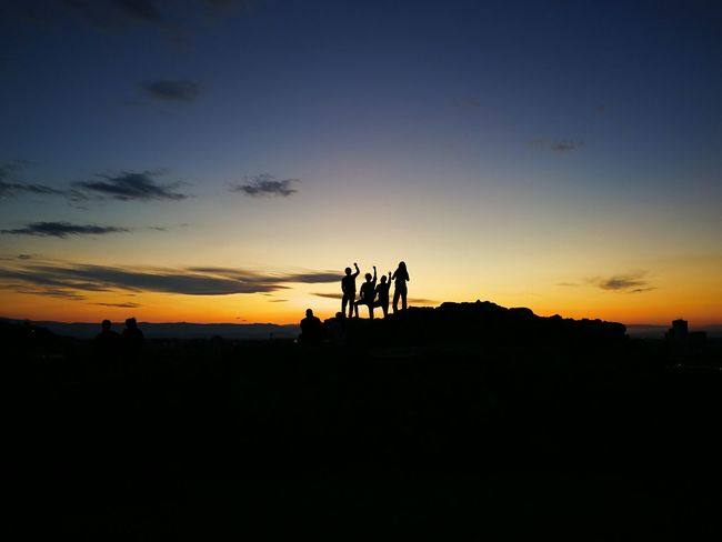 This happened when i'm taking picture for my friend and didn't expect someone was taking our picture 😂 Sunset Sky Togetherness Outdoors Nature Coincidencetography Friendship ❤ Hostelmates Connected By Travel