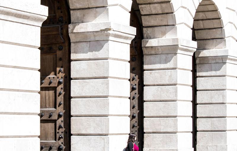 Architecture Bogen Built Structure Door Doors Heldenplatz Outdoors Vienna Woman