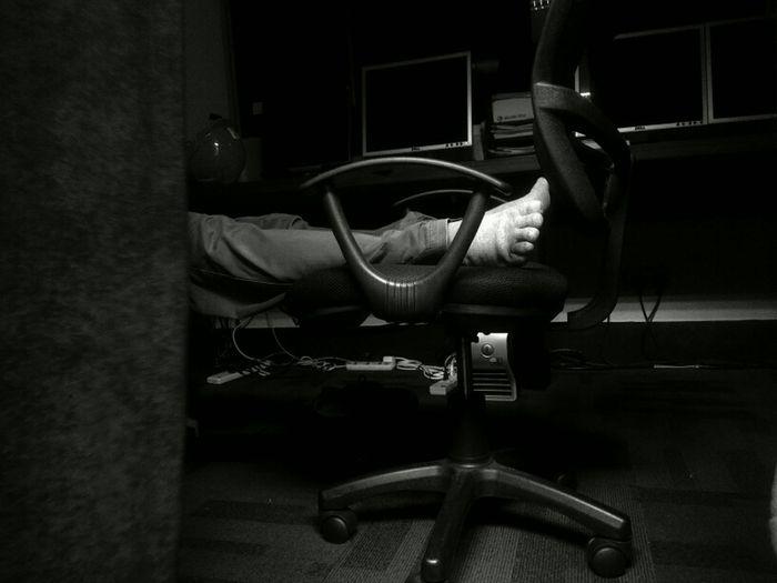 working really hard. Working Hard