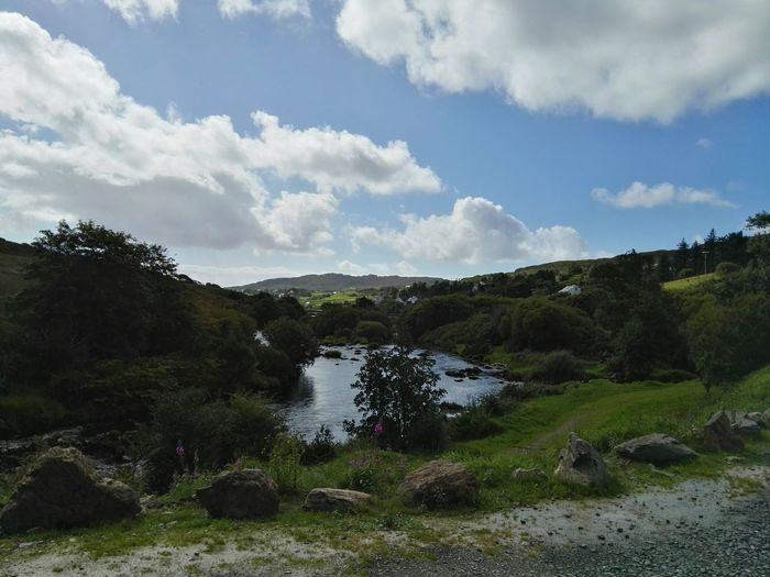 Donegal,Ireland Water Tree Mountain Forest Outdoor Pursuit Waterfall Pinaceae Sky Landscape Cloud - Sky