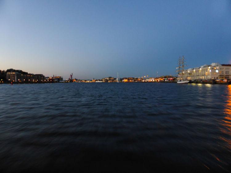 Harbour of Gothenburg Architecture City Hafen Illuminated Mid Summer Midsommar Night No People Ocean Outdoors Schweden Sweden Travel Destinations Water Water Surface Waterfront