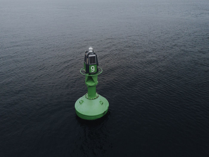 Nautical Vessel Water No People High Angle View Day Nature Sea Tranquility Waterfront Outdoors Green Color Tranquil Scene Rippled Beauty In Nature Safety Floating Security Protection Metal Floating On Water Inflatable  Nautical Buoy Buoy Marine Ocean Baltic Sea