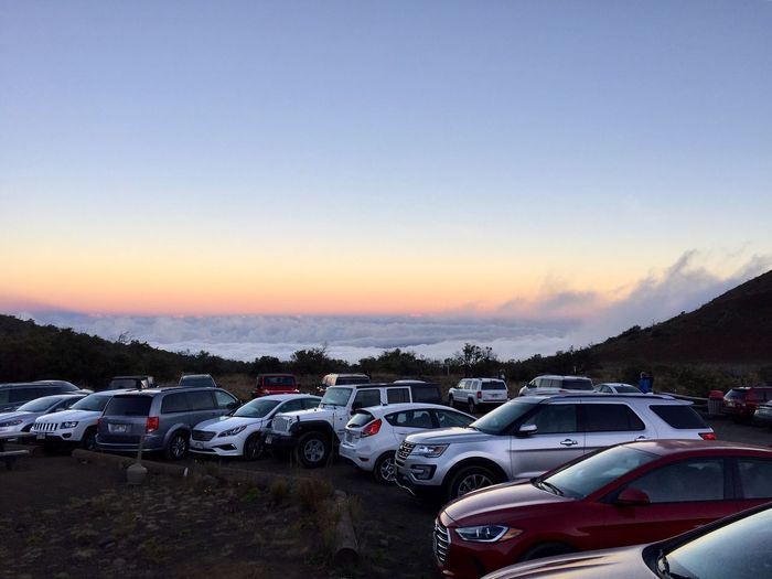 Car Cars Over The Clouds Sunset Transportation No People Outdoors Sky Nature Landscape Scenics Mauna Kea Hawaii EyeEmNewHere EyeEmNewHere An Eye For Travel Summer Exploratorium