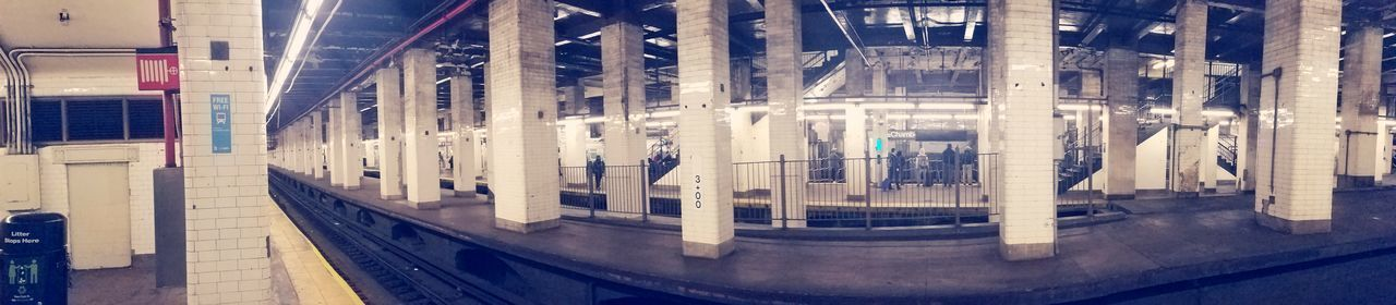 nyc Streetphotography Subway Station Panaroma Chambers Street J Train Gritty Realism Brooklyn Bridge / New York Manhattan