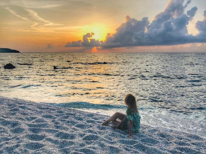 Blueflag Beach Day Marta_melodie Youcompleteme Slowtravel Sky Sunset Land Sea Beach Beauty In Nature Water Scenics - Nature Women Lifestyles