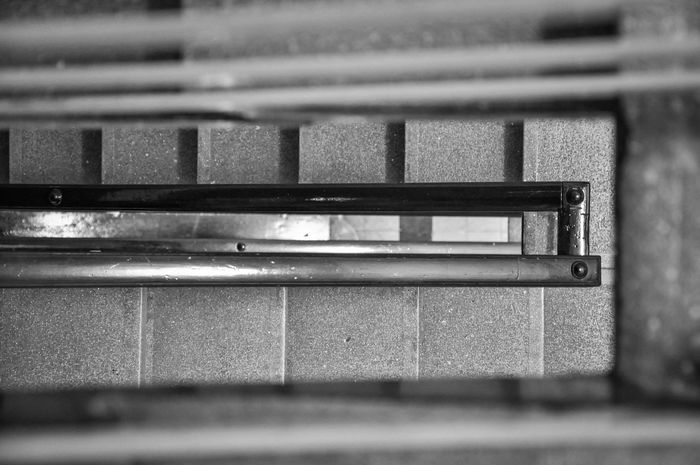 1960's Architecture Blackandwhite Calm Calmness Close-up Day House Indoors  Inside Minimalism No People Old Old Buildings Old House Public Transportation Railing Silence Stairs Tranquility