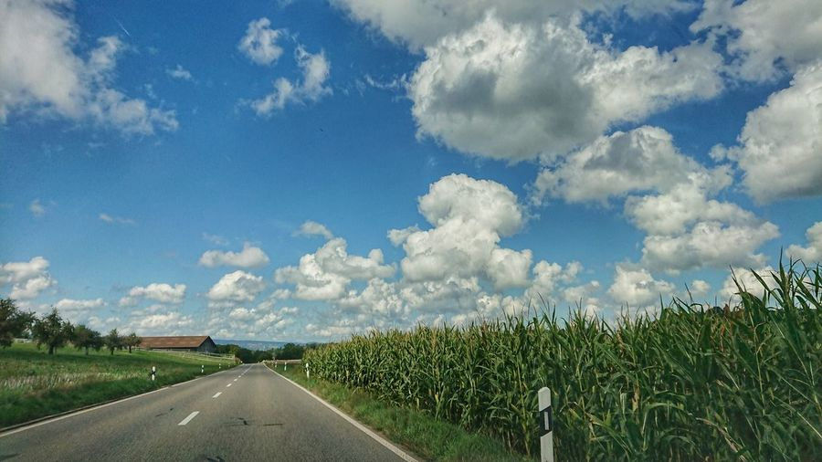 sky and road