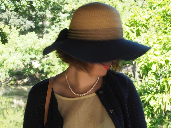 Women Young Women Fashion Headshot Mid Adult Pearl Jewelry Posing Natural Beauty Jewelry Box Pendant Jewelry Necklace Hat Sun Hat Gemstone