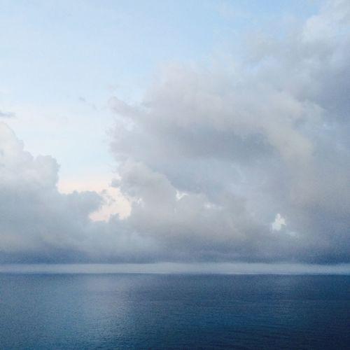 Over Yonder. Mediterranean  Sea Water Blue Sky Skies Clouds Clouds And Sky France September