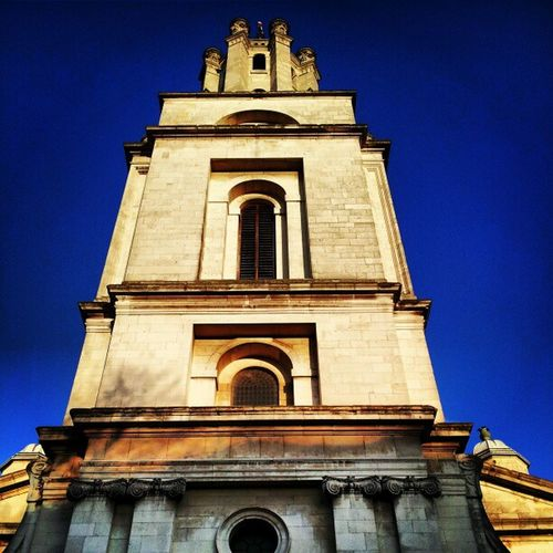Church Churchtower Churchtowers Lookingup hawksmoor architecture englishbaroque baroque belltower belltowers