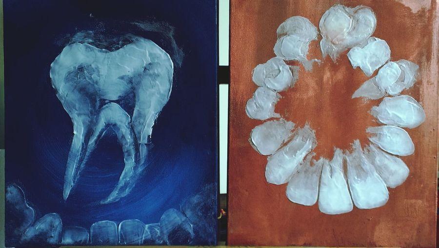 Teeth Toothpaste Art
