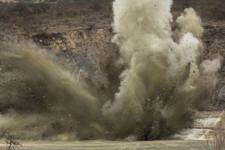 Explosion at quarry