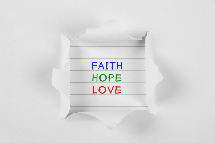 Faith Faith Hope Love Peace Hope Love Love Hope Faith Strength Close-up Communication Day Faith Hope Believe Faith Hope Love Faith Hope Soul Searching Intense Faithful Hopes And Dreams Indoors  No People Studio Shot Text White Background White Color