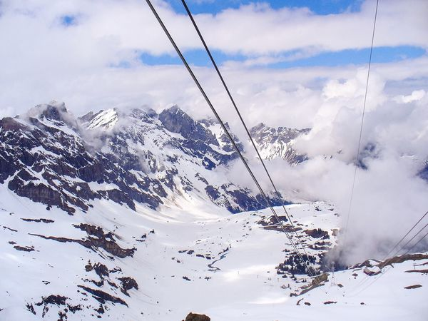Snow Cable Winter Mountain Overhead Cable Car Nature Sky Cold Temperature Ski Lift Landscape Outdoors Beauty In Nature Scenics Day No People Mount Titlis Mount Titlis, Switzerland. Switzerland Alps Alps Switzerland Alps Snow Ski Skiing In The Clouds Tourism