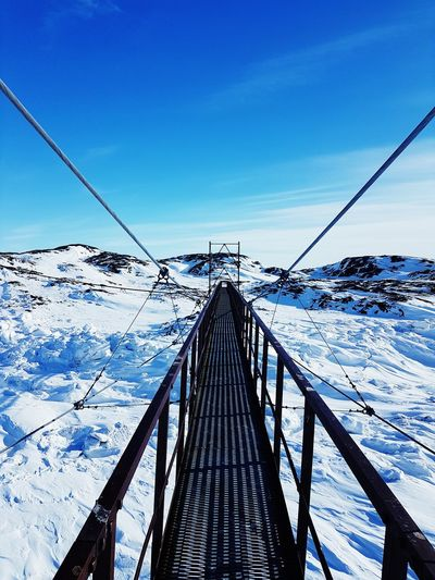 Blue Bird days in the North. Blue Sky Bluebird Arctic Water Sea Sailing Ship Nautical Vessel Clear Sky