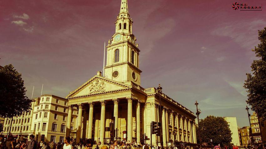 Trafalgar Square Church St Martin-in-the-fields Westminster London England