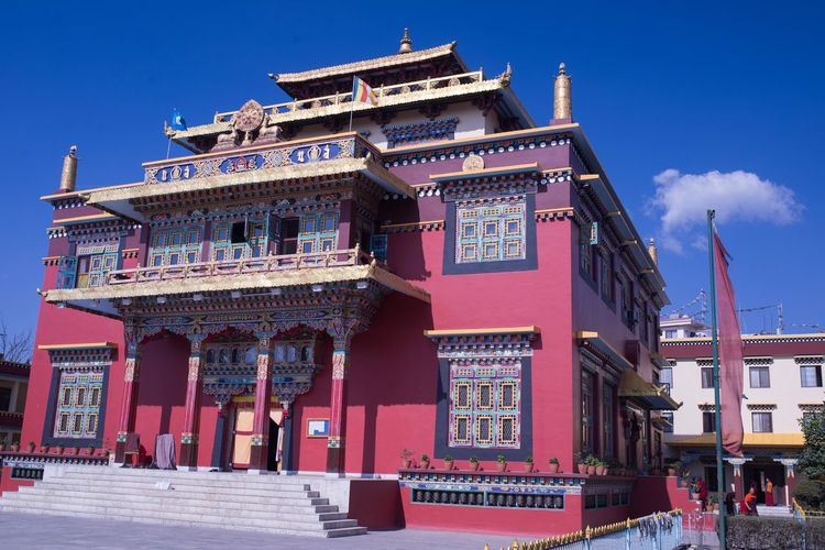 a buddhist monastery in Nepal. Architecture Asian Culture Buddhism Building Exterior Built Structure City Colors Day Monastery Buddhism Multi Colored Nepal Nepal Travel No People Outdoors Sky Travel Destinations
