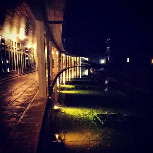 University House at night!