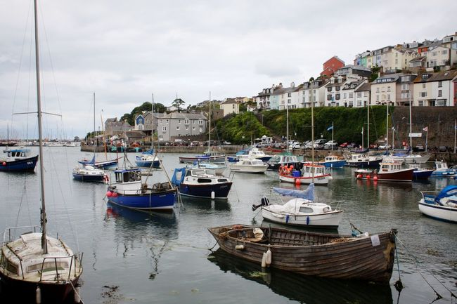 Architecture Boat Boats Building Exterior Built Structure Cloud - Sky Cloudy Day Harbor Harbour Harbour View Mode Of Transport Moored Nautical Vessel No People Residential District Sea Sky Town Transportation Water Waterfront Landscapes Devon English Harbour