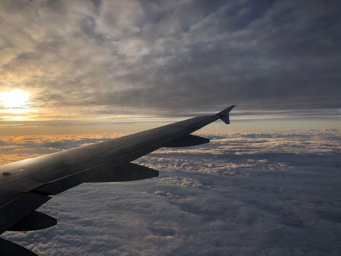 Cloud - Sky Sky Airplane Mode Of Transportation Scenics - Nature Cloudscape Above