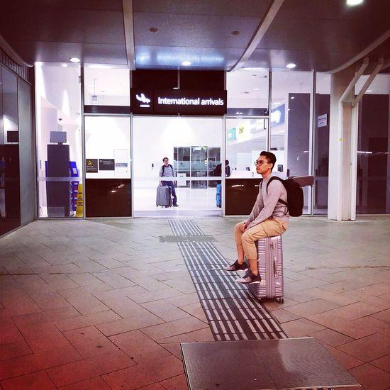 Full Length Young Adult Architecture Lifestyles Waiting The Traveler - 2018 EyeEm Awards