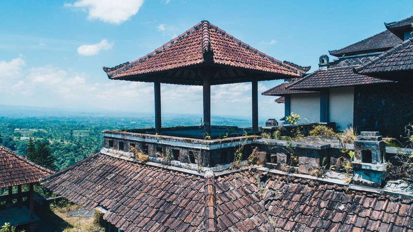 Architecture Beauty In Nature Building Exterior Built Structure Day Dronephotography Nature No People Outdoors Roof Sky Tiled Roof  Tree