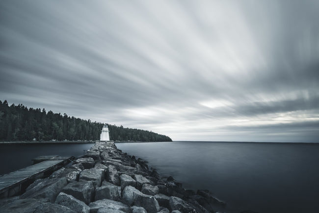 Lighthouse. Water Sea Scenics Horizon Over Water Cloud - Sky Beauty In Nature Nature Tranquility No People Landscape Outdoors Sky Day Beach Rural Scene Tree Lighthouse Vänern Sweden Sweden Nature Long Exposure