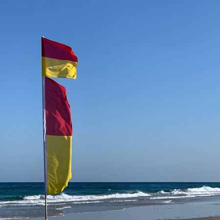Sea flags Beach Flags In The Wind  Surf Life Saving Flag EyeEm Selects Sea Water Beach Horizon Over Water Sky Horizon Wave Red Nature Land Blue Clear Sky Outdoors Motion Flag Beauty In Nature Scenics - Nature No People