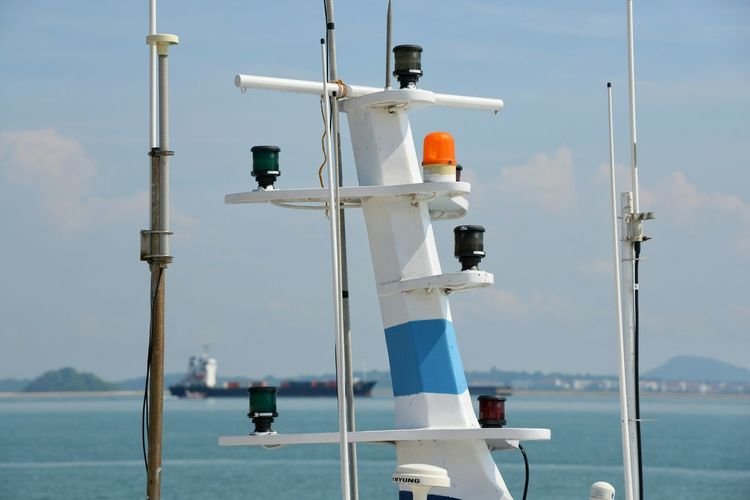 Siren and radio signal equipment on ferry