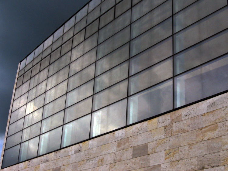 Architecture Backgrounds Brick Wall Building Built Structure Close-up Day Full Frame Geometric Shape Low Angle View Modern No People Office Building Outdoors Repetition Sky