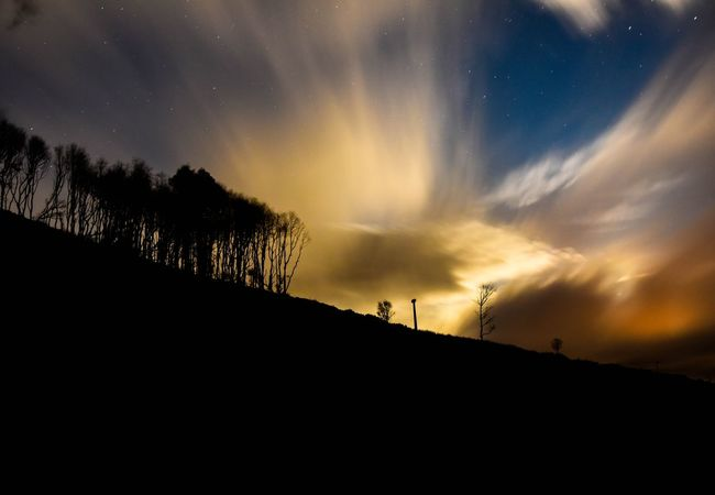 Landscape_Collection Landscape Landscape_photography Scotland Perthshire Moonlight Nightphotography Nightsky Dramatic Sky D750 Nikon Nikonphotography Astronomy Galaxy Star - Space Space Milky Way Mountain Sunset Silhouette Moon Rural Scene