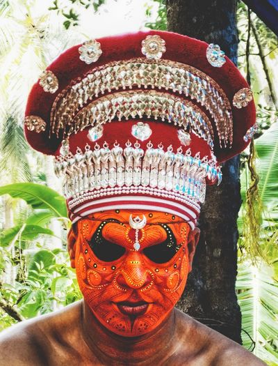 EyeEm Ready   EyeEm Theyyam God Ritual One Person Prayer Face Paint Day Headshot One Man Only Only Men Men Real People Close-up