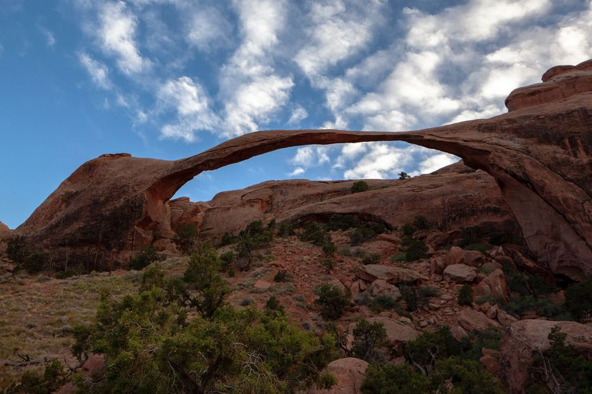 American landscape arch Arches National Park Arches National Park Utah Dead Tree Trunks EyeEm United States Of America Setting Sun And Tree Dead Tree Trunks Sky Rock Nature Rock - Object Rock Formation Solid Cloud - Sky No People Beauty In Nature Mountain Scenics - Nature