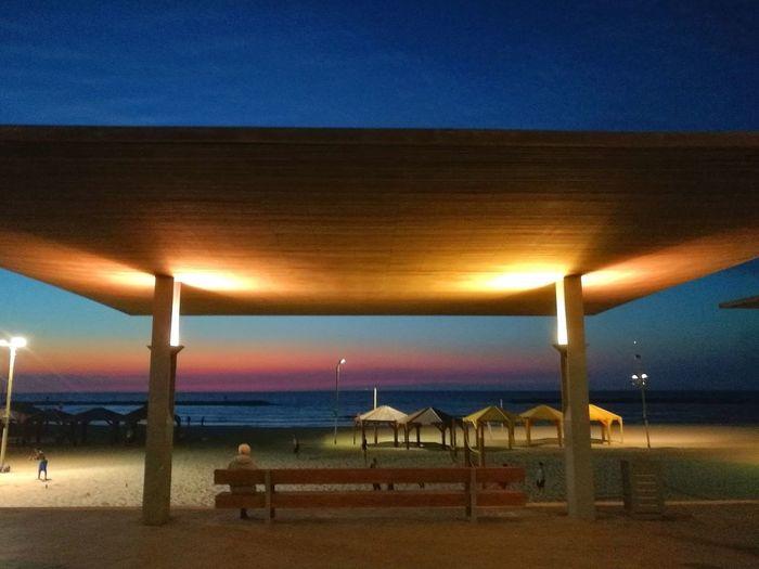 Israel Summer Beachboulevard Telaviv Ilovetlv Beach Sea Sand Sky Night Sunset Outdoors Horizon Over Water Vacations No People Illuminated Travel Destinations Nature Beauty In Nature Water Architecture