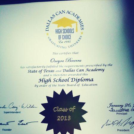 Finally got my diploma (:
