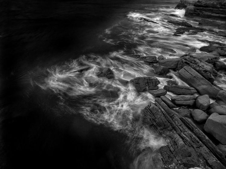 Coast Bnwphotography Sea Rocks Water Sea Wave Nature High Angle View No People Outdoors