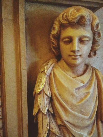 Religion Statue Spirituality Indoors  Close-up Sculpture Day No People Cherib Art Indoors  Statue