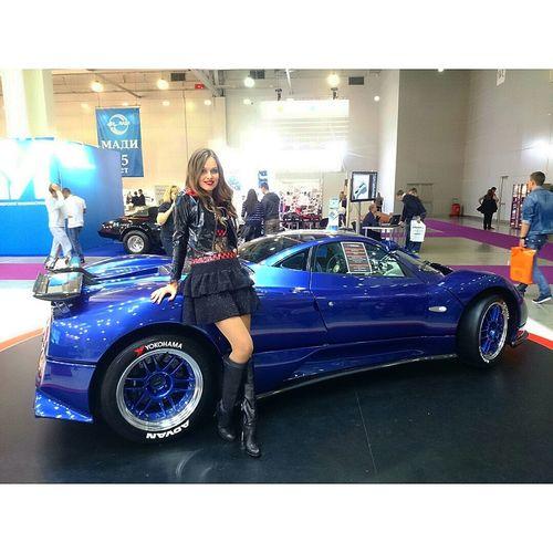 MIAS 2014 PaganiZonda Girls Sport Cars